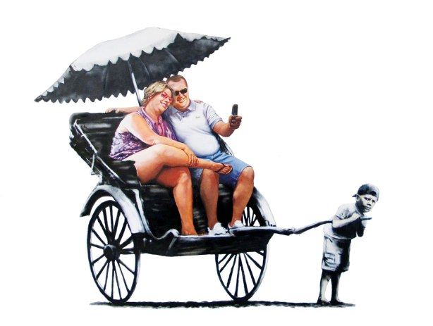 Fat Tourist Rickshaw (Banksy)