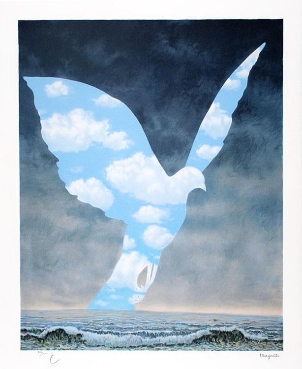 La grande famille by Rene Magritte