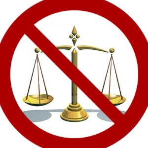 no justice symbol