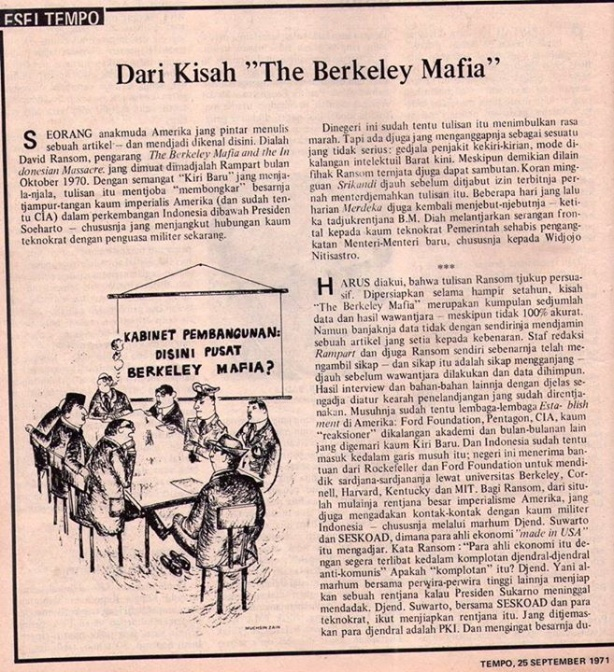 tulisan GM tentang Mafia Berkeley