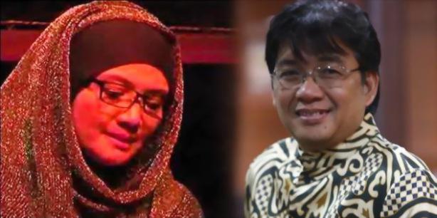 Fatin Hamama dan Denny JA (Foto: merdeka.com)